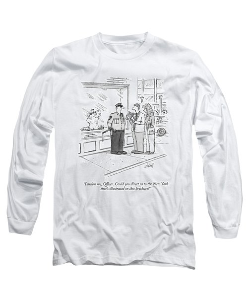 Pardon Me, Officer.  Could You Direct Long Sleeve T-Shirt