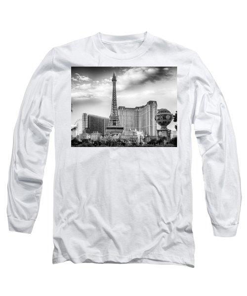 Long Sleeve T-Shirt featuring the photograph Paris Las Vegas by Howard Salmon