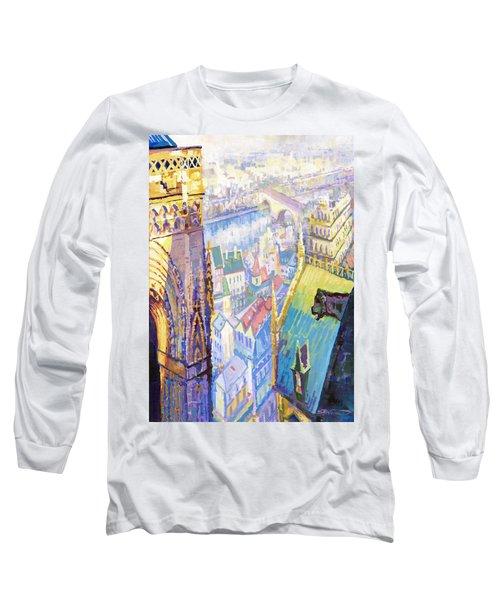Paris Shadow Notre Dame De Paris Long Sleeve T-Shirt