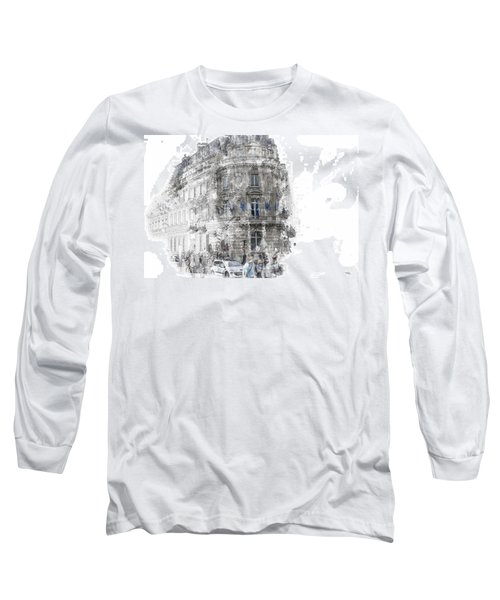 Paris With Flags Long Sleeve T-Shirt
