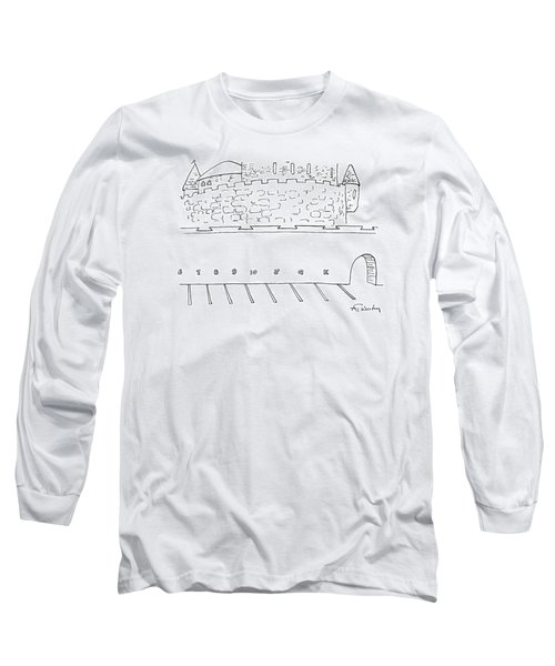 Parking Lot Outside Of A Castle. The Parking Long Sleeve T-Shirt