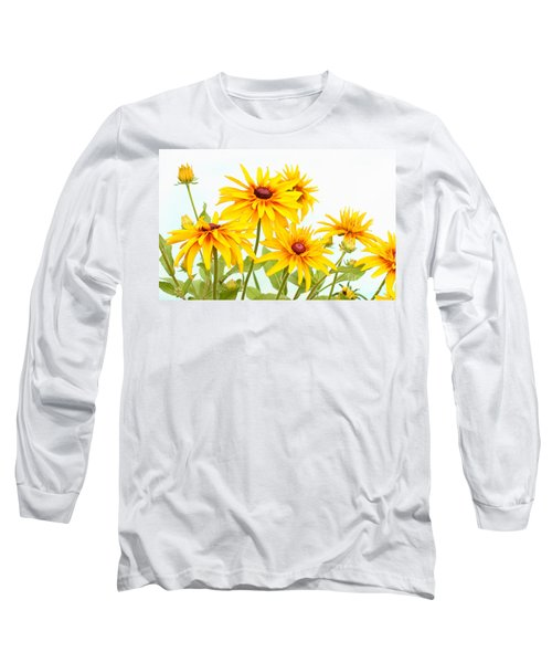 Patch Of Black-eyed Susan Long Sleeve T-Shirt