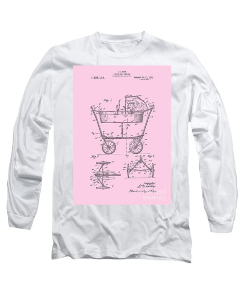Patent Art Baby Carriage 1922 Mahr Design Pink Long Sleeve T-Shirt