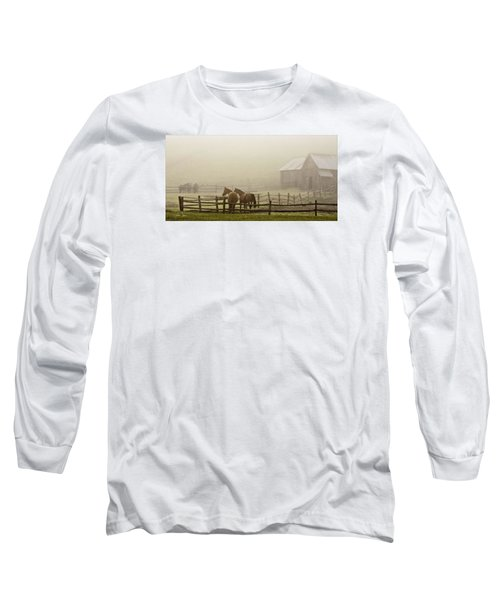 Long Sleeve T-Shirt featuring the photograph Patiently Waiting by Joan Davis