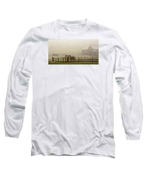 Patiently Waiting Long Sleeve T-Shirt by Joan Davis