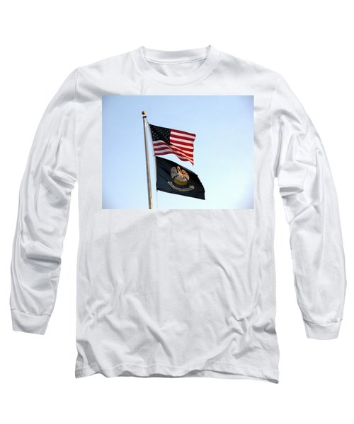 Long Sleeve T-Shirt featuring the photograph Patriotic Flags by Joseph Baril