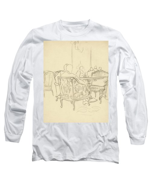Patterned Chairs At A Restaurant Long Sleeve T-Shirt