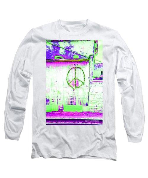 Long Sleeve T-Shirt featuring the photograph Peace 2 by Minnie Lippiatt