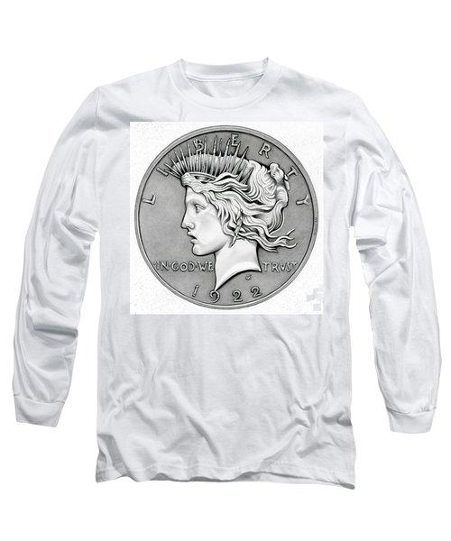Graphite Peace Dollar Long Sleeve T-Shirt