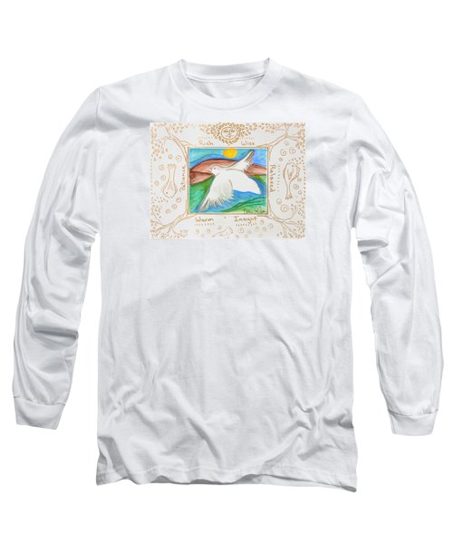 Peace Of Heaven Long Sleeve T-Shirt by Cassie Sears