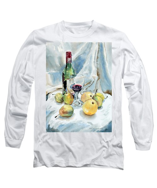 Pears And Wine Long Sleeve T-Shirt