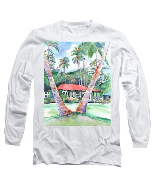 Peeking Between The Palm Trees 2 Long Sleeve T-Shirt