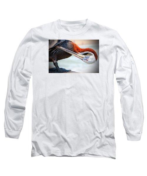 Pelican Itch Long Sleeve T-Shirt by Cynthia Guinn