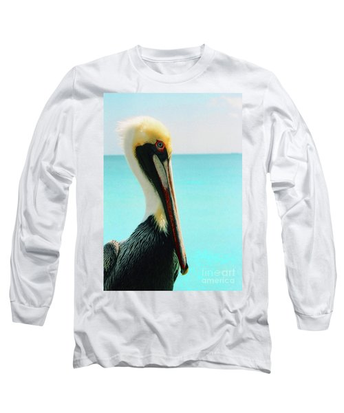 Pelican Profile And Water Long Sleeve T-Shirt
