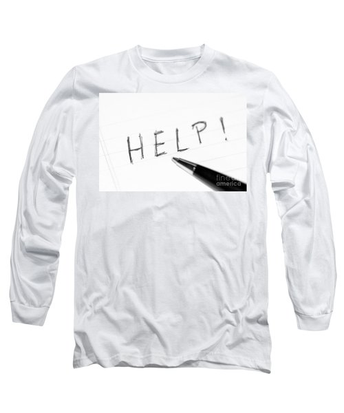 Long Sleeve T-Shirt featuring the photograph Pen Help Black White by Henrik Lehnerer