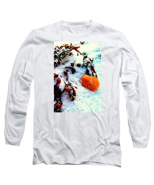 Pensacola Beach Sand Long Sleeve T-Shirt by Faith Williams