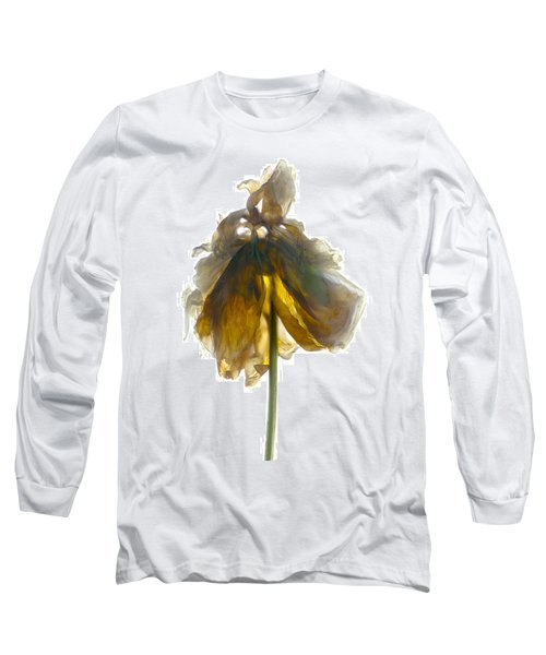 Peony Stand White Long Sleeve T-Shirt
