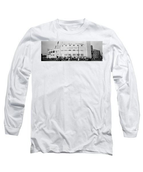 People Outside A Baseball Park, Old Long Sleeve T-Shirt