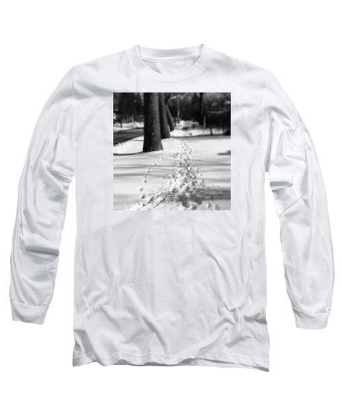Pet Prints In The Snow Long Sleeve T-Shirt by Frank J Casella