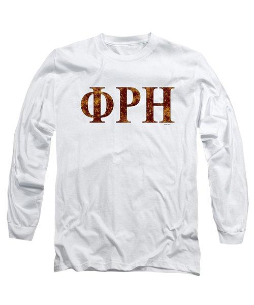 Phi Rho Eta - White Long Sleeve T-Shirt by Stephen Younts