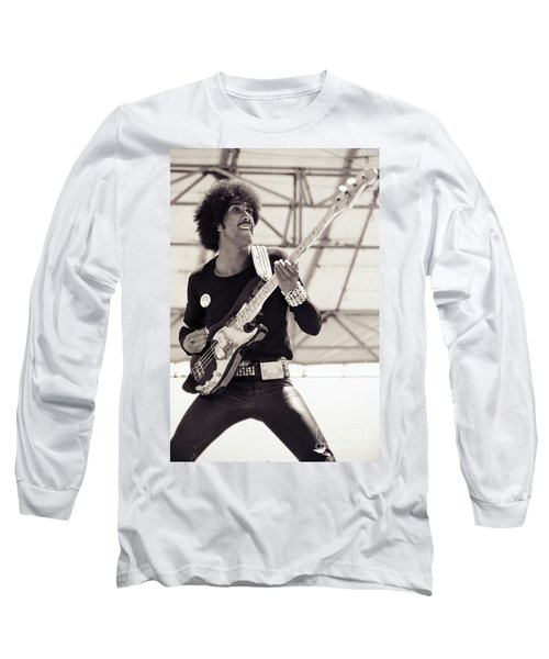 Phil Lynott Of Thin Lizzy Black Rose Tour At Day On The Green 4th Of July 1979 - Unreleased No 2 Long Sleeve T-Shirt