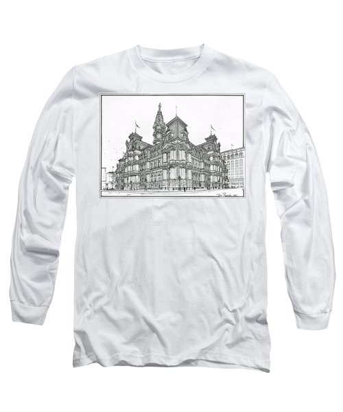 Philadelphia City Hall 1911 Long Sleeve T-Shirt by Ira Shander