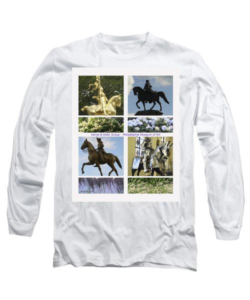 Philadelphia Museum Of Art Long Sleeve T-Shirt by Mary Ann Leitch