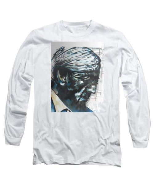 Philospher Jiddu Krishnamurti Long Sleeve T-Shirt by Chrisann Ellis