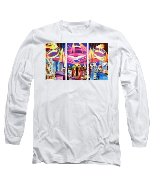Phish New York For New Years Triptych Long Sleeve T-Shirt by Joshua Morton