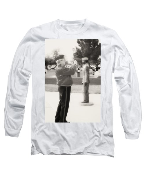 Photographing Ira Hayes Long Sleeve T-Shirt