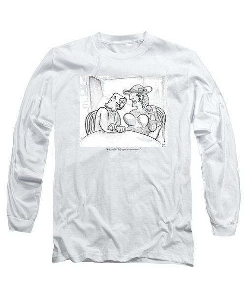 Picasso-esque Woman Speaks To Picasso-esque Man Long Sleeve T-Shirt