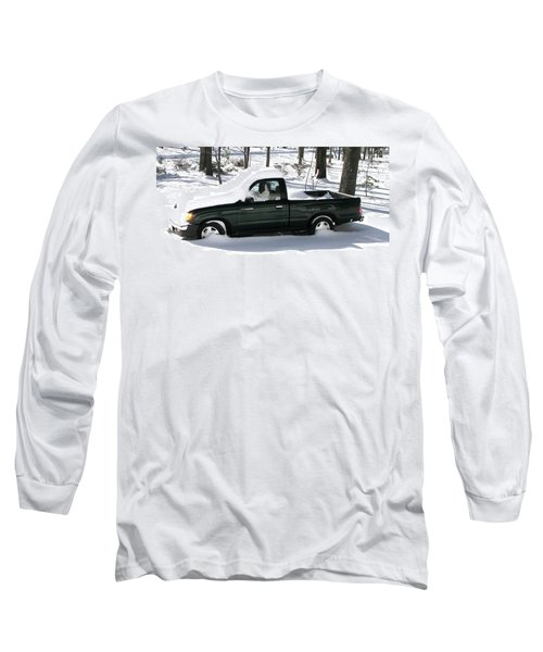 Long Sleeve T-Shirt featuring the photograph Pickup In The Snow by Pamela Hyde Wilson
