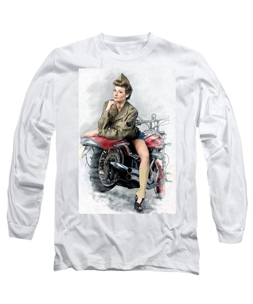 Pin-up Biker  Long Sleeve T-Shirt