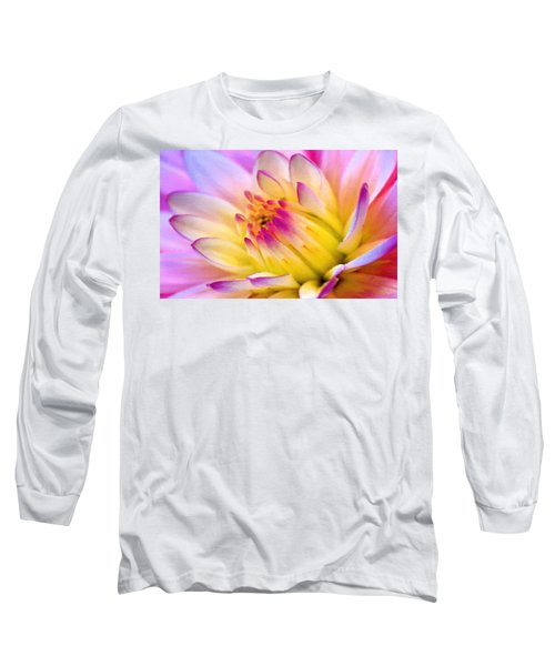 Pink And White Water Lily Long Sleeve T-Shirt