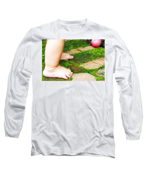Pink Ball Long Sleeve T-Shirt by Valerie Reeves