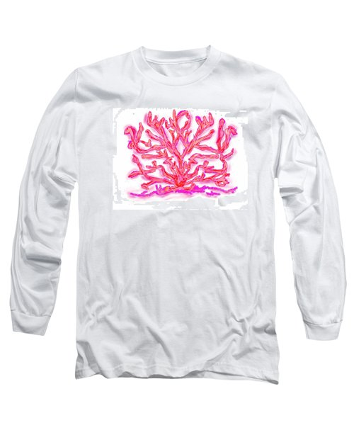 Long Sleeve T-Shirt featuring the digital art Pink Coral by Christine Fournier