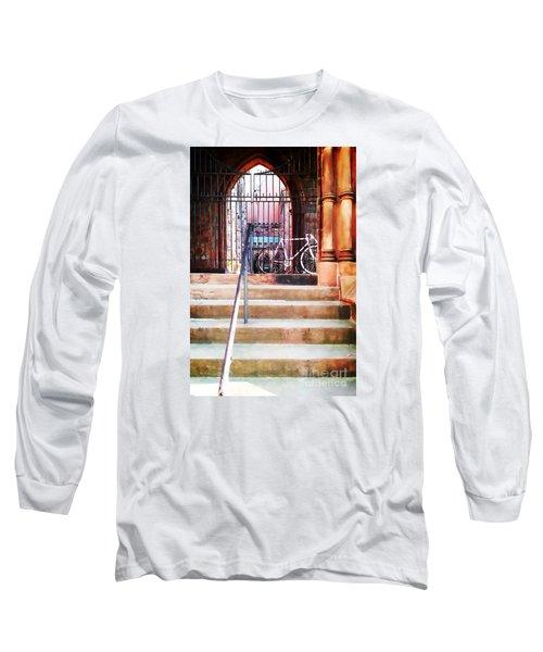 Pink Goes To Church Long Sleeve T-Shirt by Joseph J Stevens