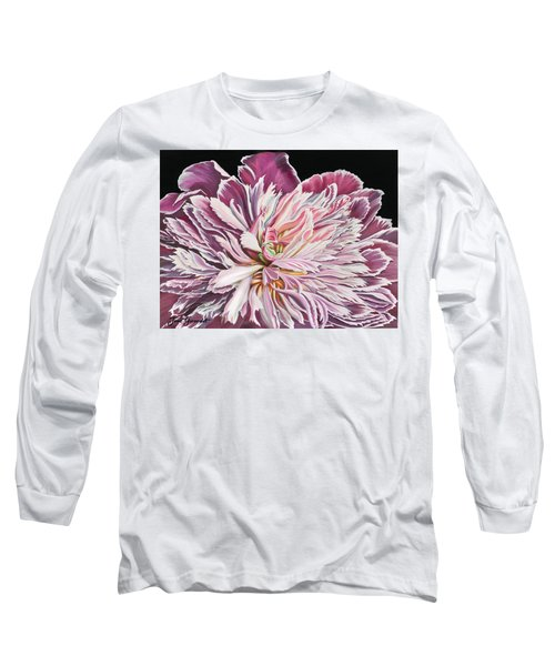 Pink Peony Long Sleeve T-Shirt by Jane Girardot