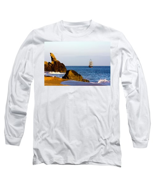 Pirate Ship In Cabo Long Sleeve T-Shirt
