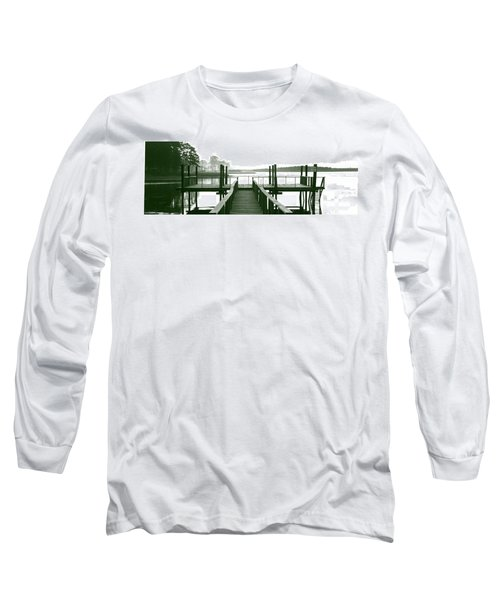 Pirate's Cove Pier In Monochrome Long Sleeve T-Shirt