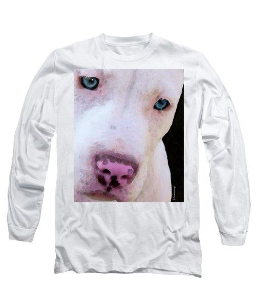 Pit Bull Art - Not A Fighter Long Sleeve T-Shirt