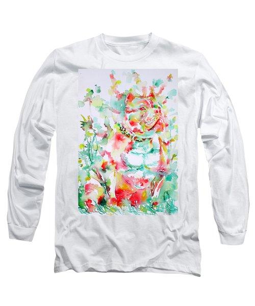 Pit Bull In The Garden Long Sleeve T-Shirt