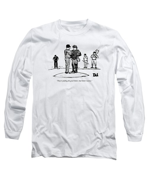 Pitcher And Catcher Stand On Pitcher's Mound Long Sleeve T-Shirt