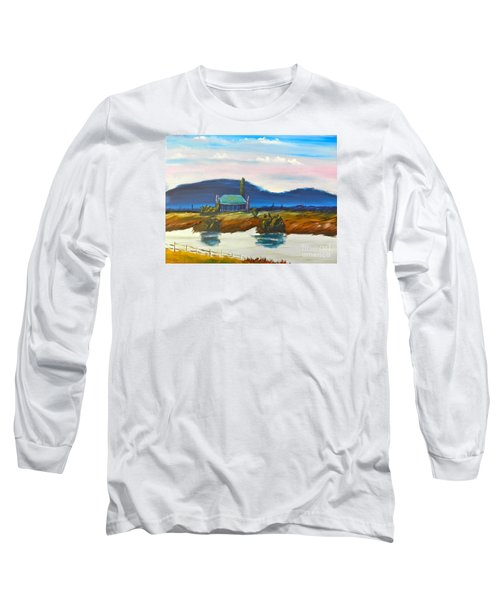 Long Sleeve T-Shirt featuring the painting Pittown by Pamela  Meredith