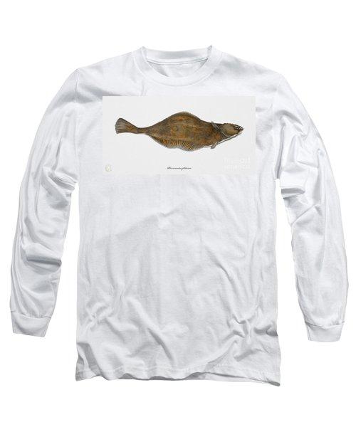 Plaice Pleuronectes Platessa - Flat Fish Pleuronectiformes - Carrelet Plie - Solla - Punakampela Long Sleeve T-Shirt