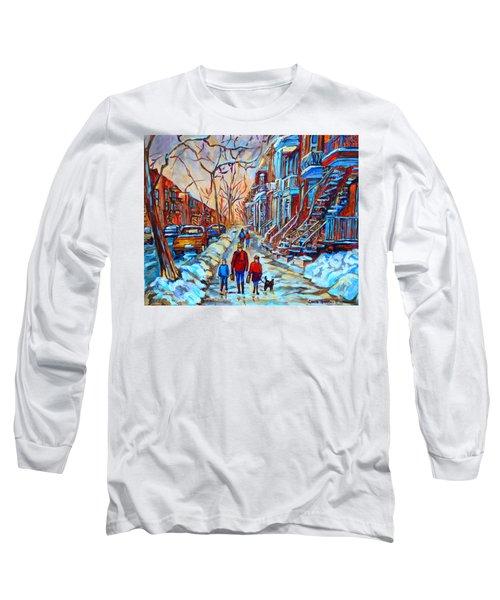 Plateau Montreal Street Scene Long Sleeve T-Shirt