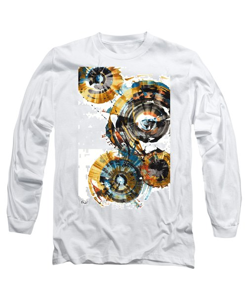 Long Sleeve T-Shirt featuring the painting Playing In The Wind 1000.042312 by Kris Haas
