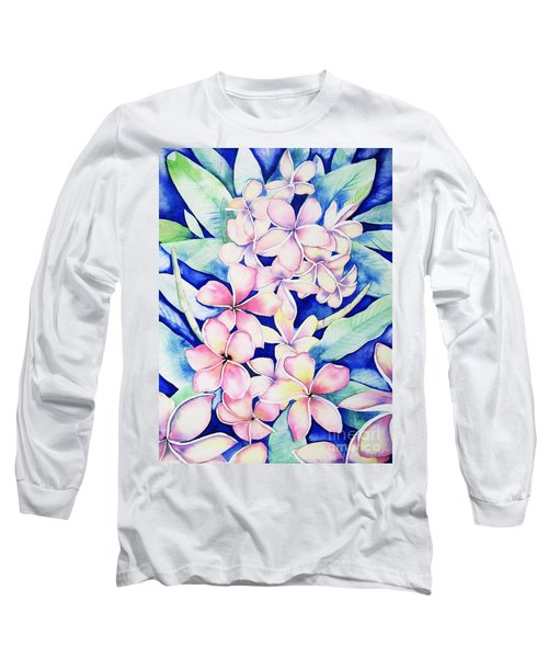 Plumerias Of Maui Long Sleeve T-Shirt