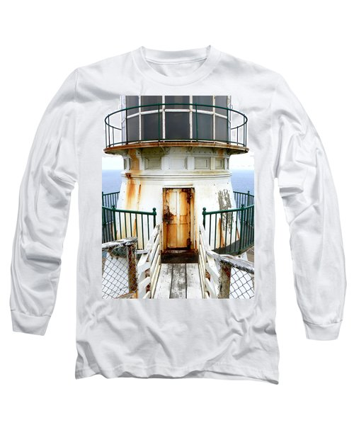 Point Reyes Historic Lighthouse Long Sleeve T-Shirt by Laurel Powell