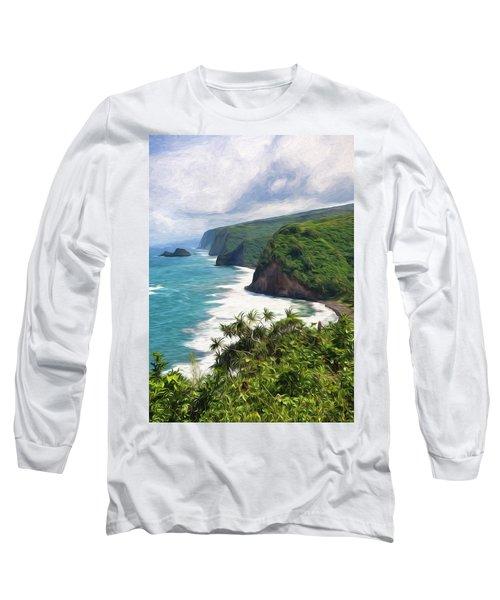 Pololu Valley Beach Long Sleeve T-Shirt